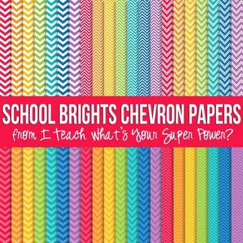 School Brights Chevron Paper Pack