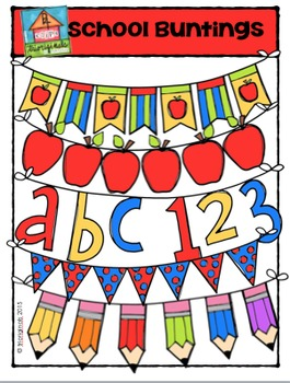 School Buntings {P4 Clips Trioriginals Digital Clip Art}