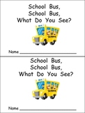 School Bus Emergent Reader for Preschool Kindergarten