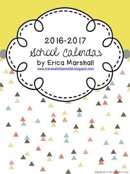 School Calendar: July-October 2016