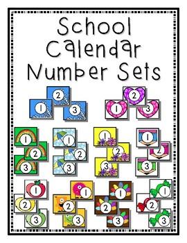School Calendar Months Aug-May Numbers