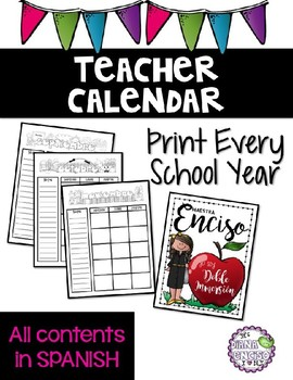 School Calendar Spanish Editable