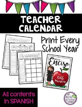 School Calendar Spanish