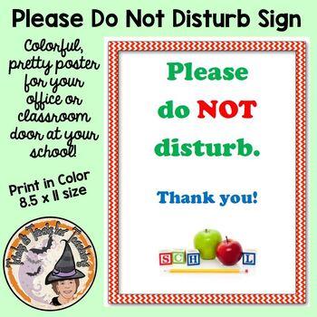 Please Do Not Disturb School Classroom Door Do Not Disturb