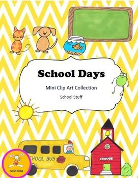 School Clip Art - School Days Collection