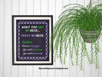School Counseling Confidentiality Counselor Gift Poster Ps