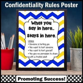 School Counseling Confidentiality Rules Chevron Poster Cou