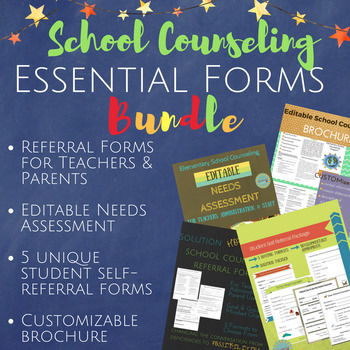 School Counseling Essential Forms Package