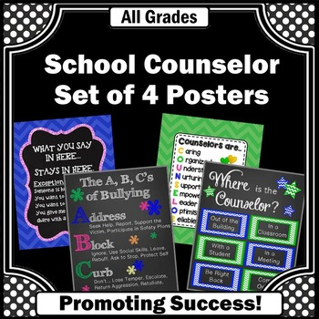Counselor Office & Door Posters for National School Counse
