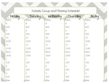 School Counseling Week at a Glance Planner