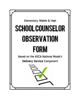 School Counselor Observation