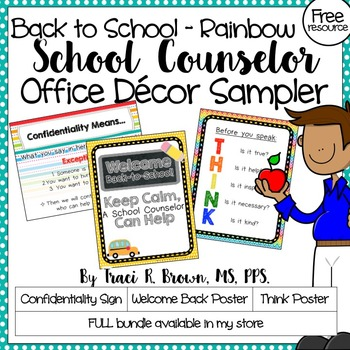 School Counselor Office Décor Posters (Freebie)