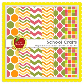 School Crafts {Papers for Commercial Use}