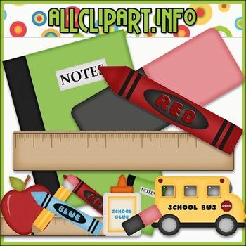 BUNDLED SET - School Days 2 Clip Art & Digital Stamp Bundle