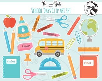 School Days Clipart Set