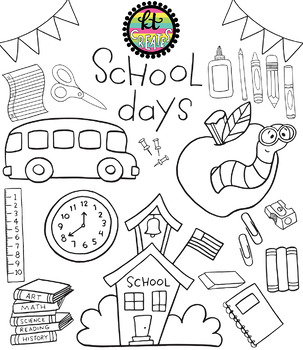 School Days Clipart Set {KT Creates Original}