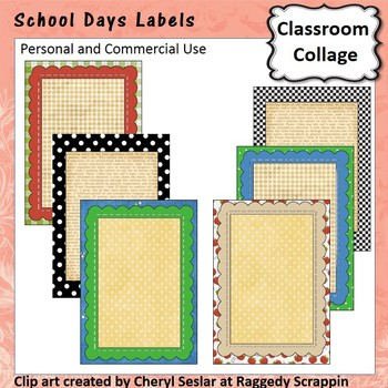 School Days Frame, Sign or Label template - personal & com
