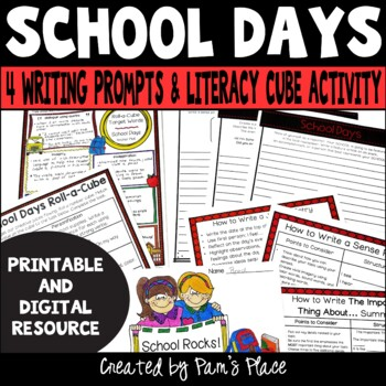 School Theme Roll-a-Cube Activity for Literacy and Languag