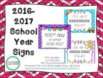 School Days Signs