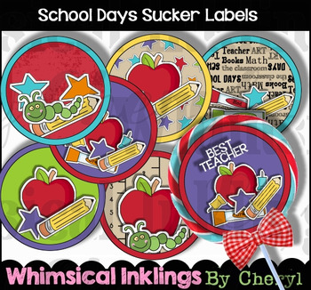 School Days Sucker Labels
