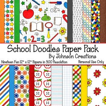 School Doodles Paper Pack