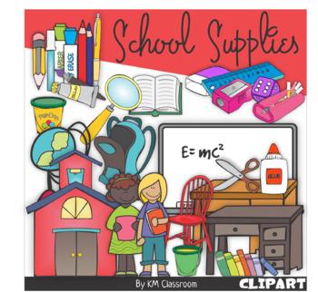 School Equipments Clip Art Bundle