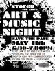 School Event Advertisement (Posters & Flyers) Art & Music Night