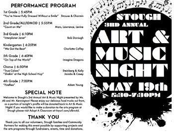 School Event Advertisement (Program & Map) Art & Music Night