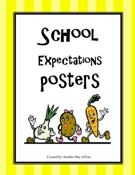 School Expectations Posters- healthy living theme