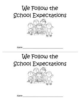 School Expectations emergent reader