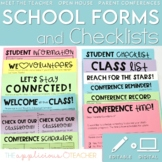 School Forms and Checklists Editable