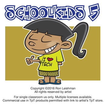 School Kids Cartoon Clipart Vol. 5