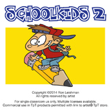 School Kids Cartoon Clipart Volume 2
