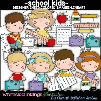 School Kids Clipart Collection