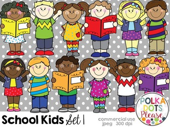 School Kids Set 1 {Graphics for Commercial Use}