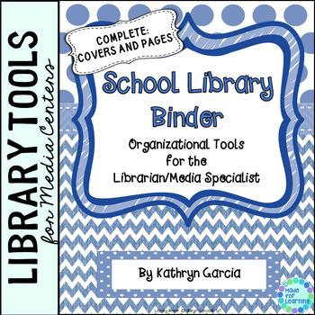 School Library Binder/Planner:  Blue