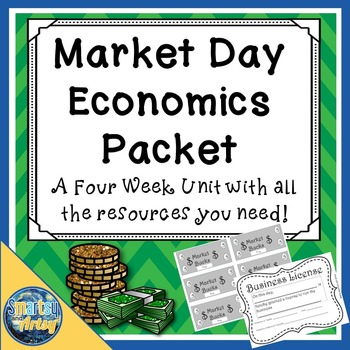 School License Market Day Economics Packet with Templates