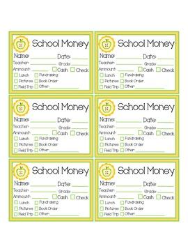 School Money Slips