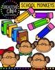 School Monkeys {Creative Clips Digital Clipart}