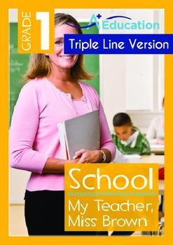 School - My Teacher is Miss Brown (with 'Triple-Track Writ
