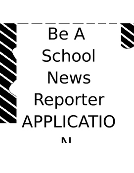 School News Announcement and Application for students