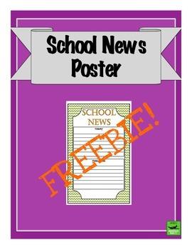 School News Poster - Freebie!