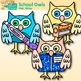 School Owl Clip Art {Back to School Graphics for the First