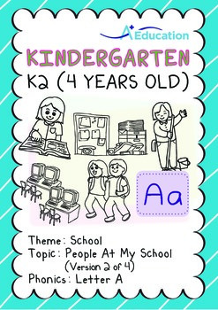 School - People at My School (II): Letter A - Kindergarten