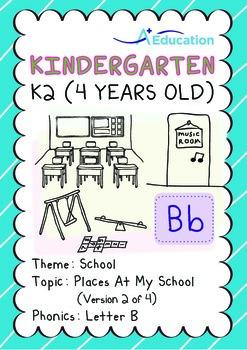 School - Places at My School (II): Letter B - Kindergarten