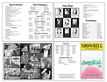 School Play Program Photoshop Template - Seussical (Includ