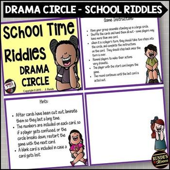 School Riddles Drama Circle
