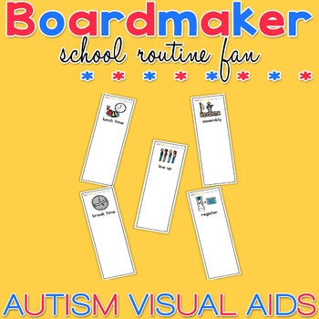 School Routine Fan - Boardmaker / Autism / ADHD / ASD / PECS