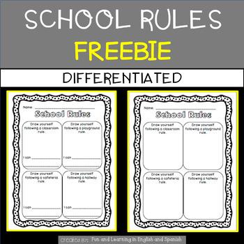School Rules Freebie - differentiated