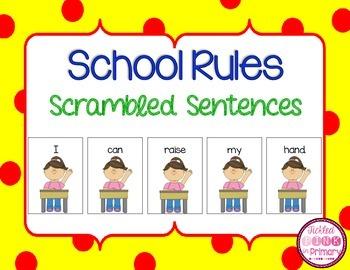 School Rules Scrambled Sentences